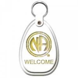 Key Tag, Welcome, White