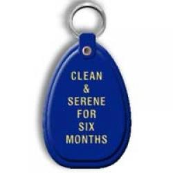 Key Tag, 6 Months, Blue