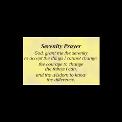 Poster, Serenity Prayer